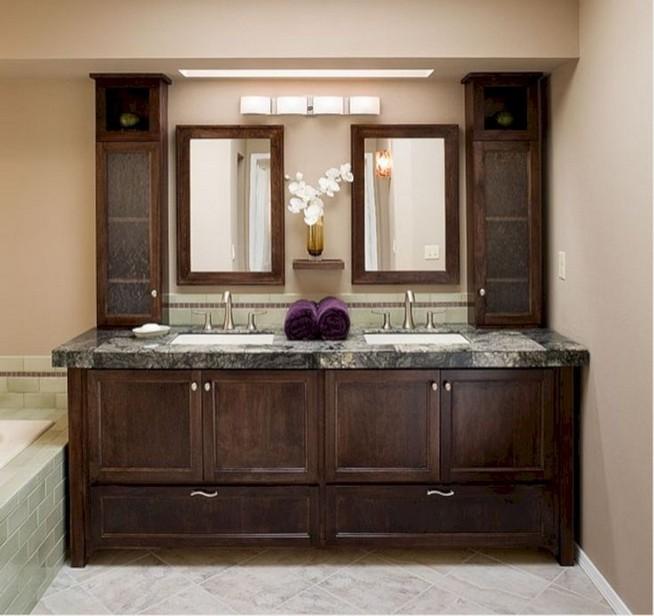 19 Delight Contemporary Dark Wood Bathroom Vanity Ideas 35