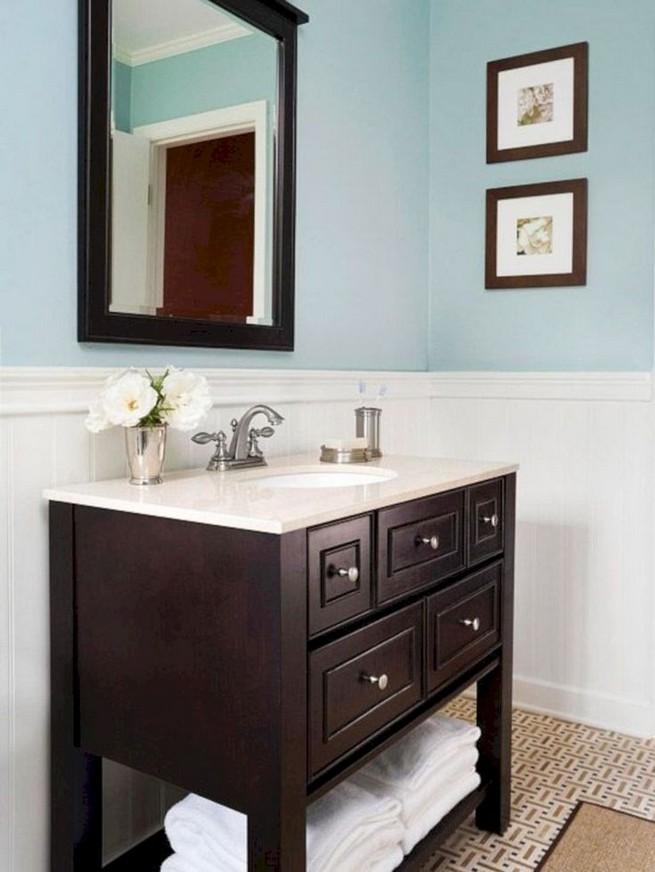 19 Delight Contemporary Dark Wood Bathroom Vanity Ideas 44