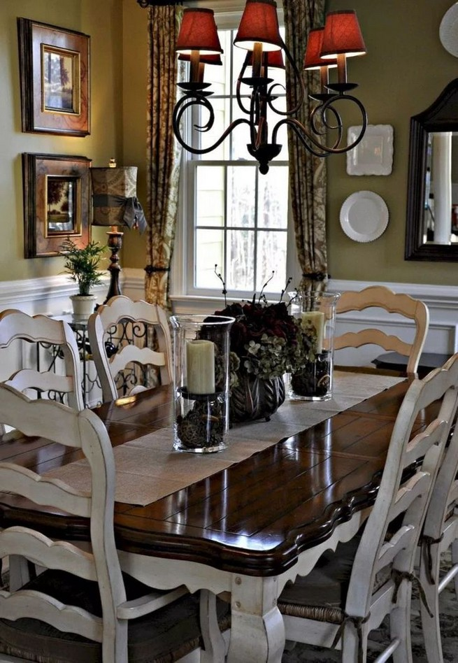 19 Fancy Farmhouse Dining Room Design Ideas 04