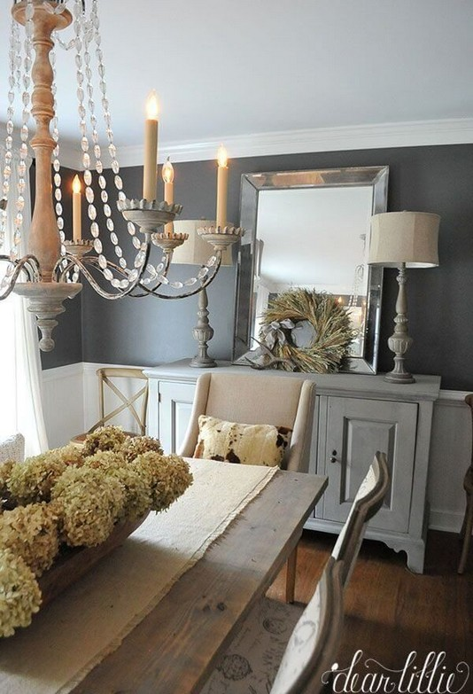 19 Fancy Farmhouse Dining Room Design Ideas 08