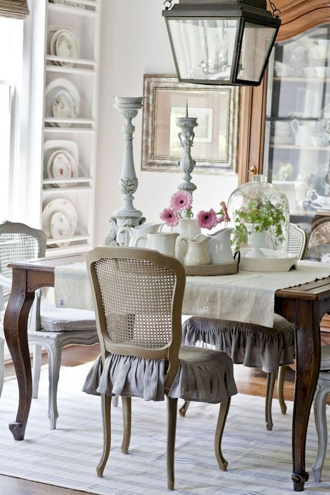 19 Fancy Farmhouse Dining Room Design Ideas 32