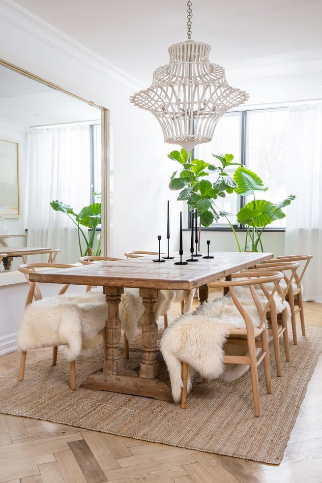 19 Fancy Farmhouse Dining Room Design Ideas 36