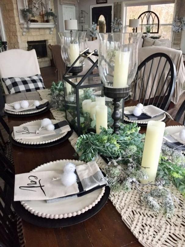 19 Fancy Farmhouse Dining Room Design Ideas 56