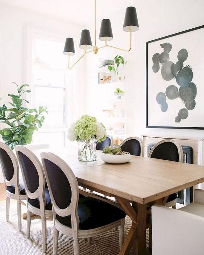 19 Fancy Farmhouse Dining Room Design Ideas 66
