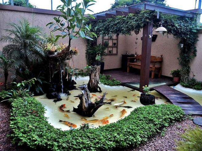 19 Gorgeous Backyard Ponds Water Garden Landscaping Ideas 01