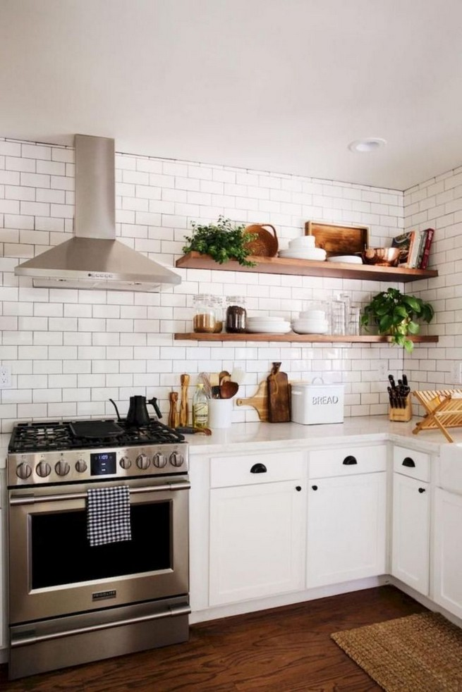21 Stylish Rustic Kitchen Decor Open Shelves Ideas 05