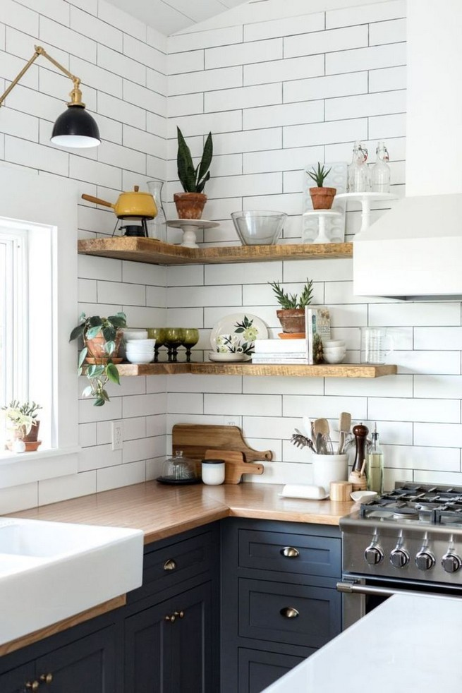21 Stylish Rustic Kitchen Decor Open Shelves Ideas 28