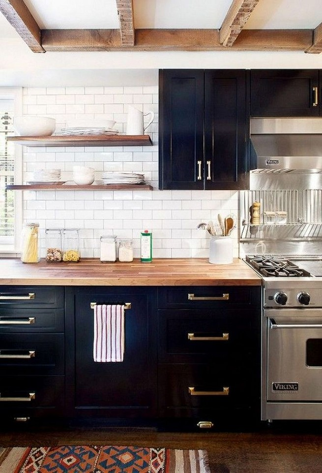 21 Stylish Rustic Kitchen Decor Open Shelves Ideas 58