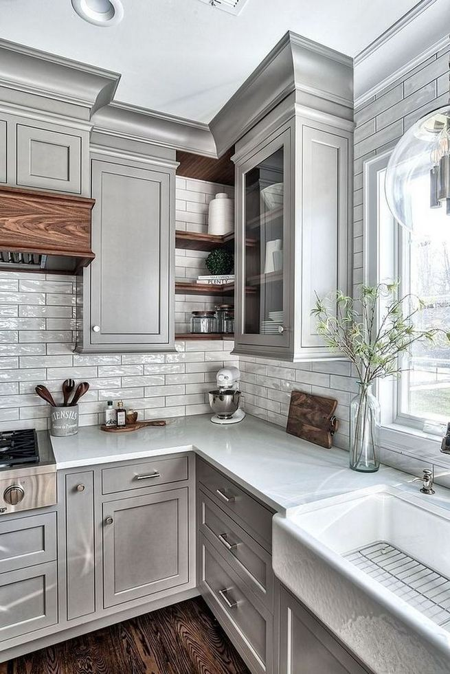 13+ Elegant Grey Kitchen Backsplash Ideas Inspiration ...
