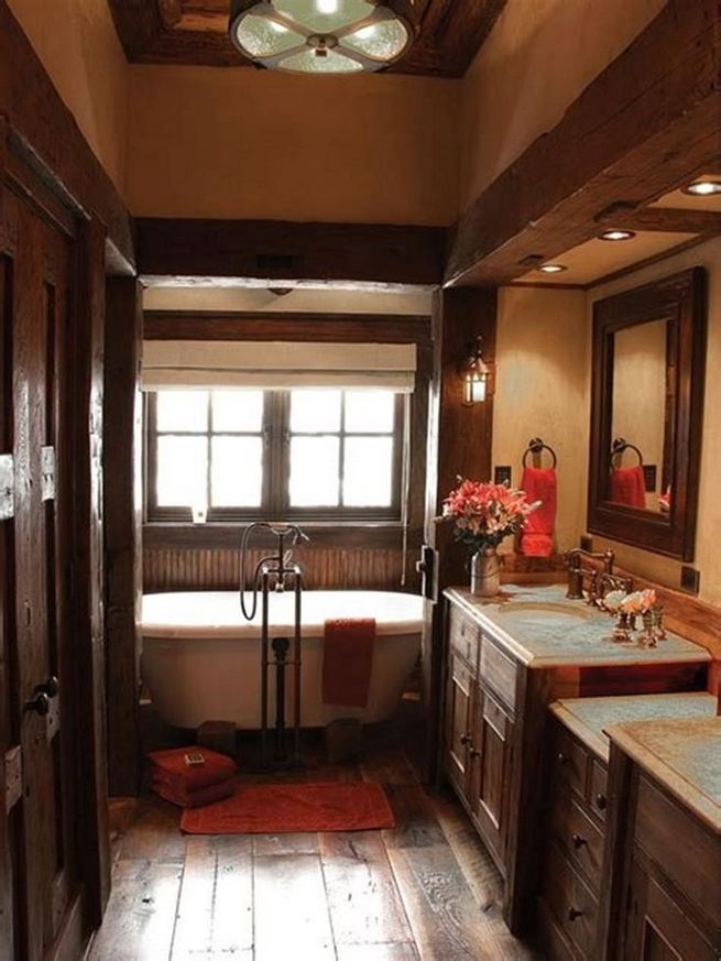 14 Relaxing Luxury Master Bathroom Design Ideas With Rustic Style 07