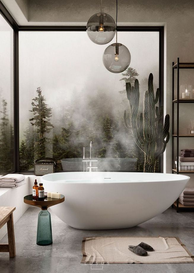 14 Relaxing Luxury Master Bathroom Design Ideas With Rustic Style 12