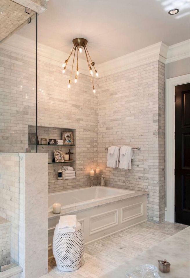 14 Relaxing Luxury Master Bathroom Design Ideas With Rustic Style 36