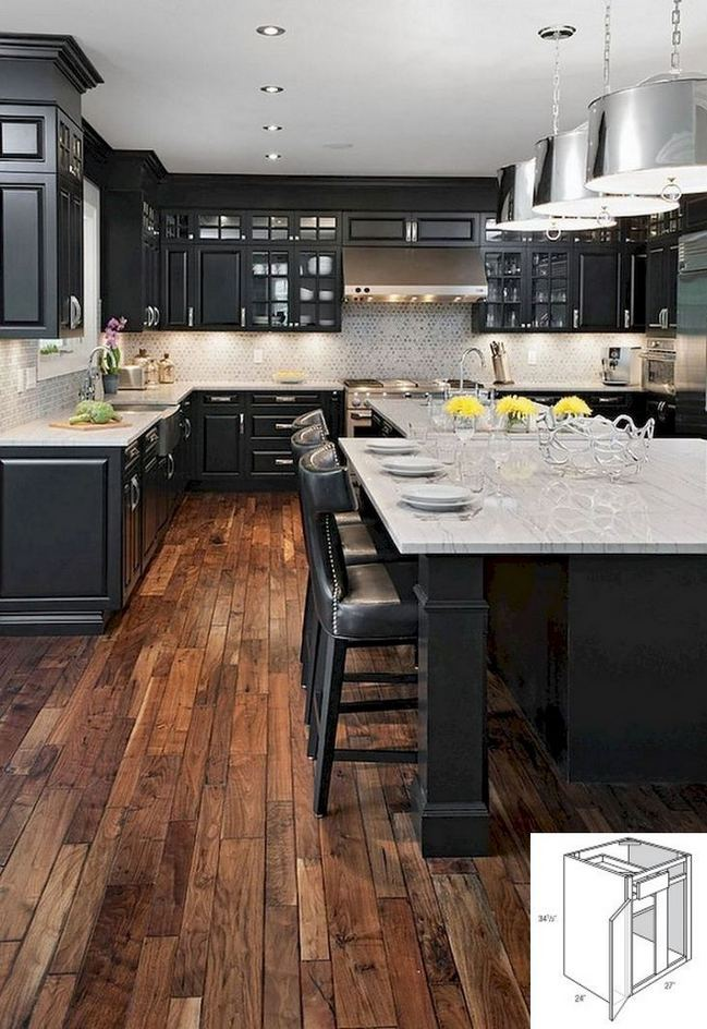 15 Affordable Black And White Kitchen Cabinets 31