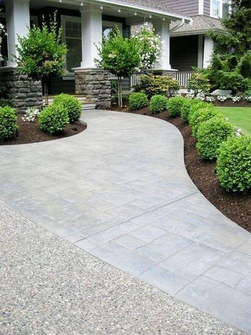 15 Elegant Front Sidewalk Landscaping Ideas 02