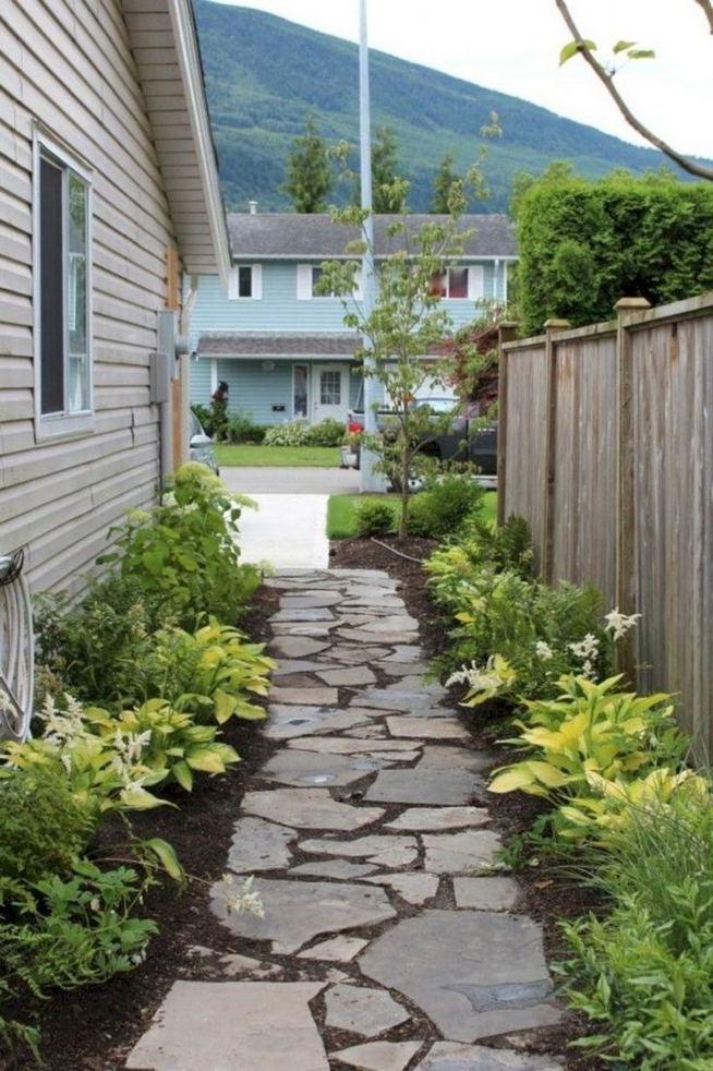 15 Elegant Front Sidewalk Landscaping Ideas 20