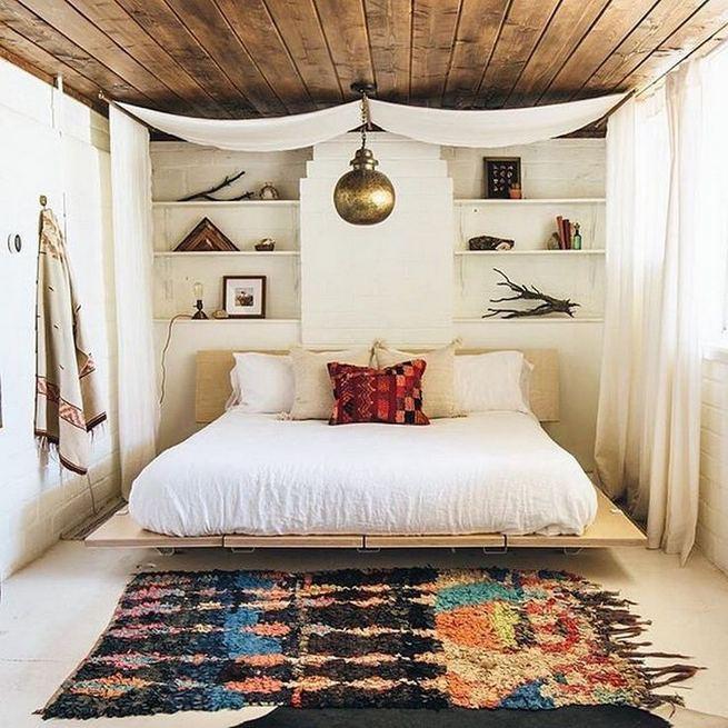 17 Inspiring Bohemian Style Bedroom Decor Design Ideas 40