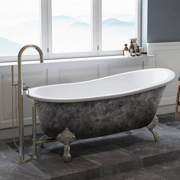 17 Modern Bathrooms With Clawfoot Tubs 36