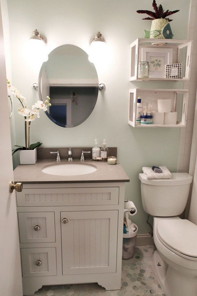 20 Gorgeous Small Bathroom Vanities Design Ideas 26