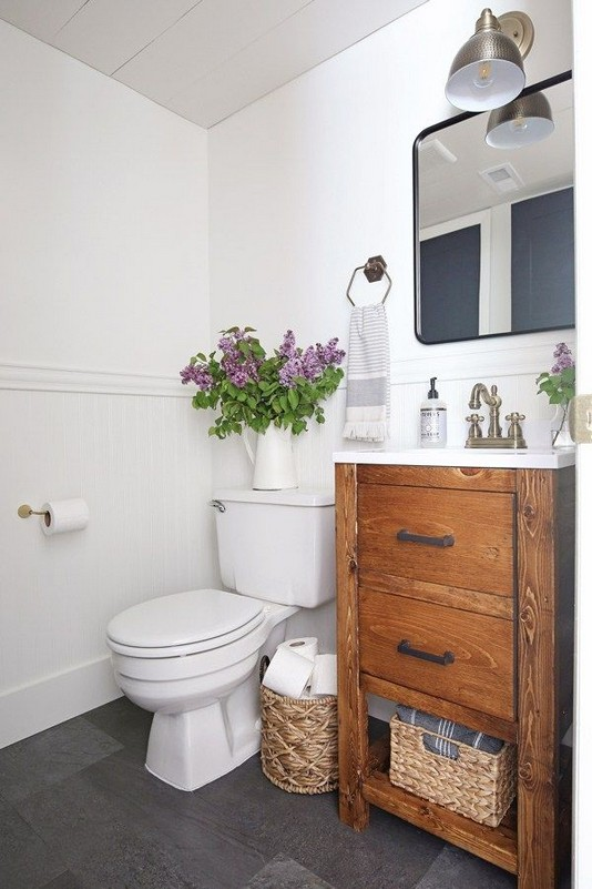 20 Gorgeous Small Bathroom Vanities Design Ideas 32