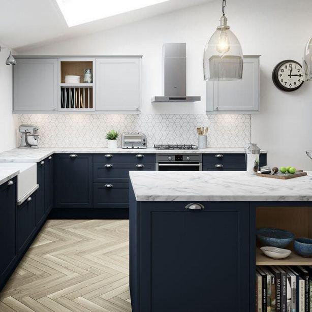 21 Gorgeous Dark Blue Kitchen Cabinets 07