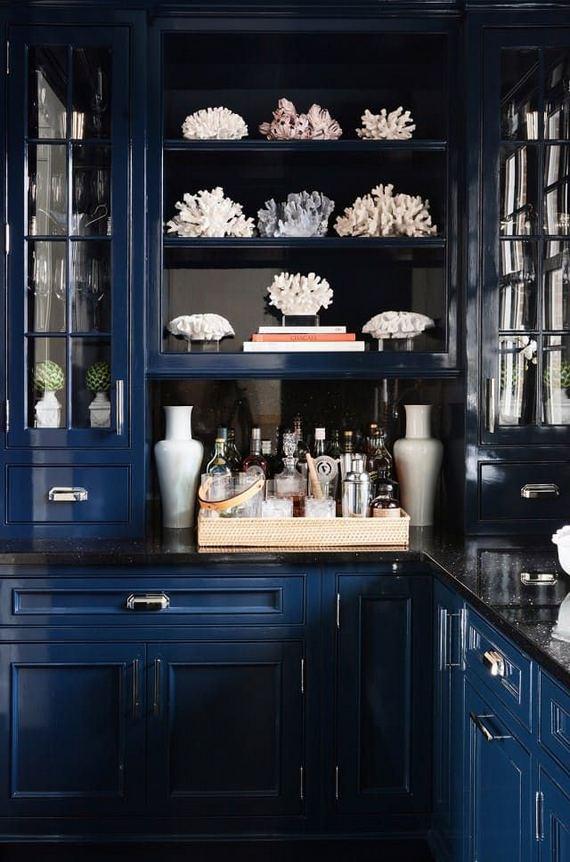 21 Gorgeous Dark Blue Kitchen Cabinets 33
