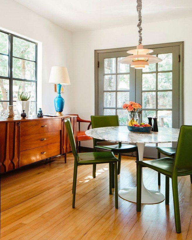 22 Easy Green Dining Room Design Ideas 27