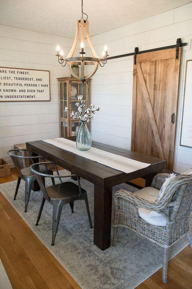 22 Stylish Modern Farmhouse Dining Room Remodel Ideas 13