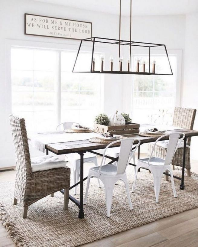 22 Stylish Modern Farmhouse Dining Room Remodel Ideas 23