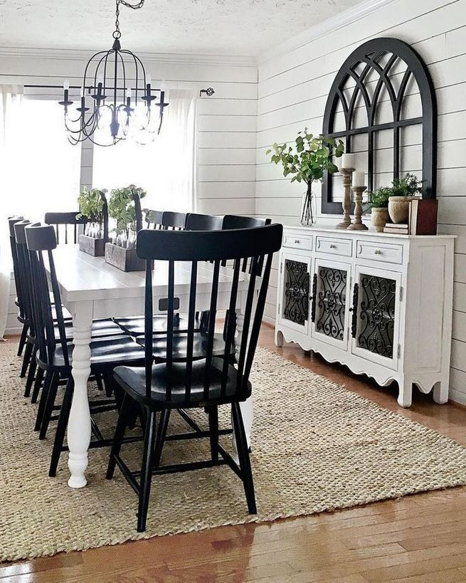 22 Stylish Modern Farmhouse Dining Room Remodel Ideas 33
