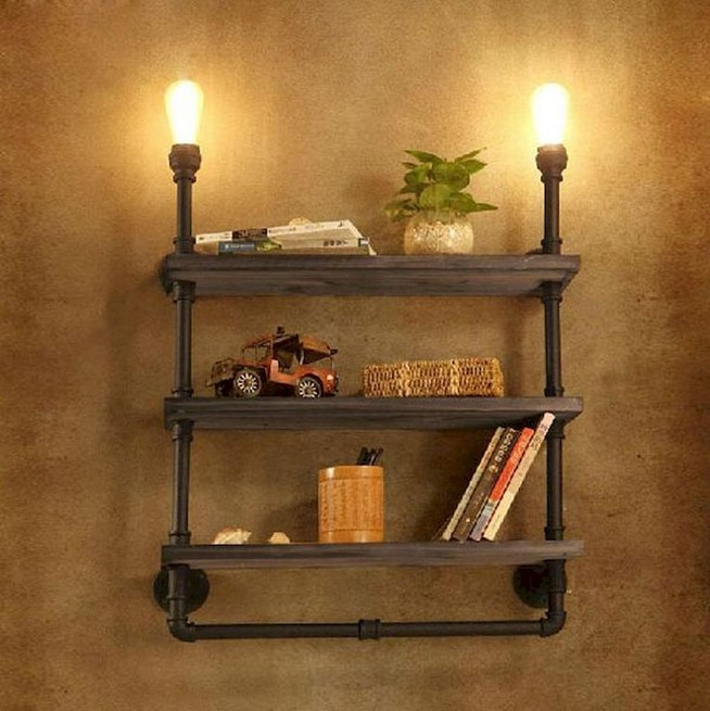 23 Awesome Industrial Wall Bookshelves Designs Ideas 21