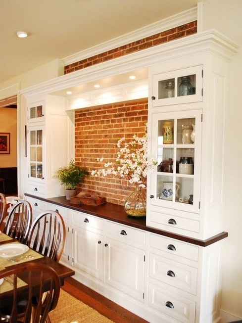 23 Cool Dining Room Wall Cabinet Design Ideas 17