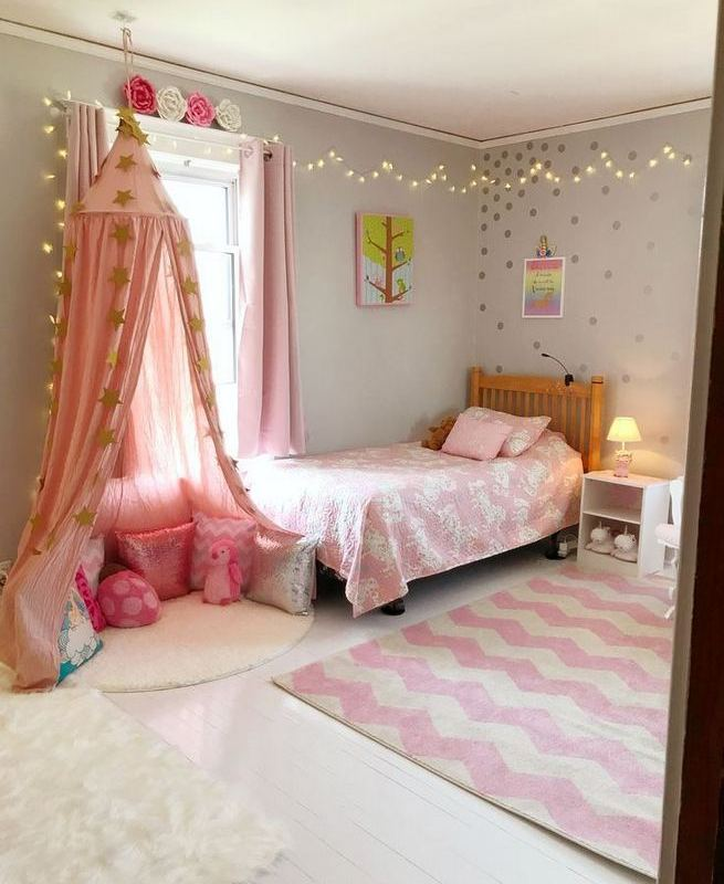 23 Cozy Cute Pink Bedroom Design Decor Ideas For Kids 05