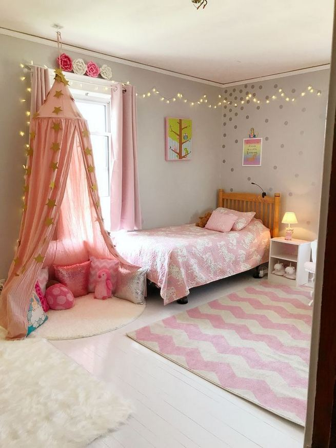 23 Cozy Cute Pink Bedroom Design Decor Ideas For Kids 05