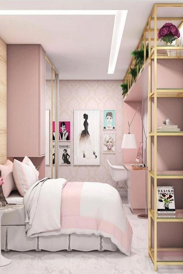 23 Cozy Cute Pink Bedroom Design Decor Ideas For Kids 28