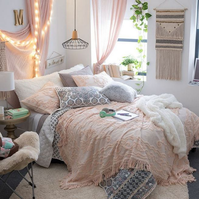 23 Cozy Cute Pink Bedroom Design Decor Ideas For Kids 45