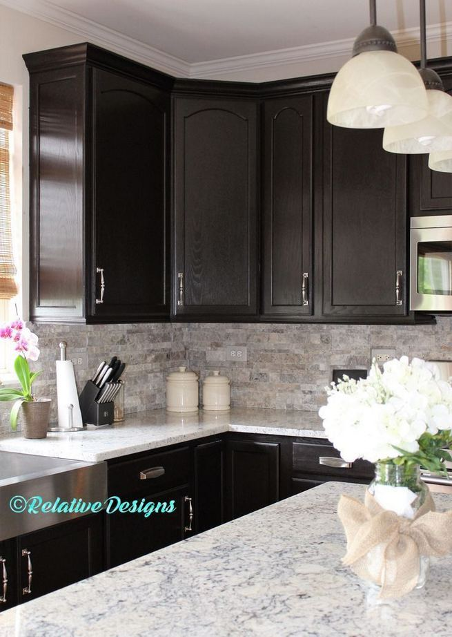 25 Best Ideas For Black Cabinets In Kitchen 24