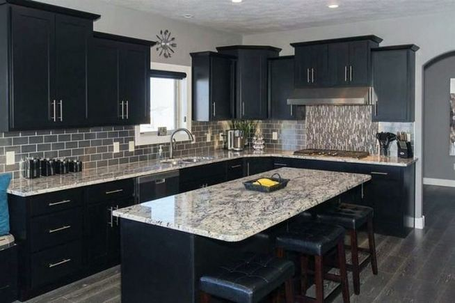 25 Best Ideas For Black Cabinets In Kitchen 27