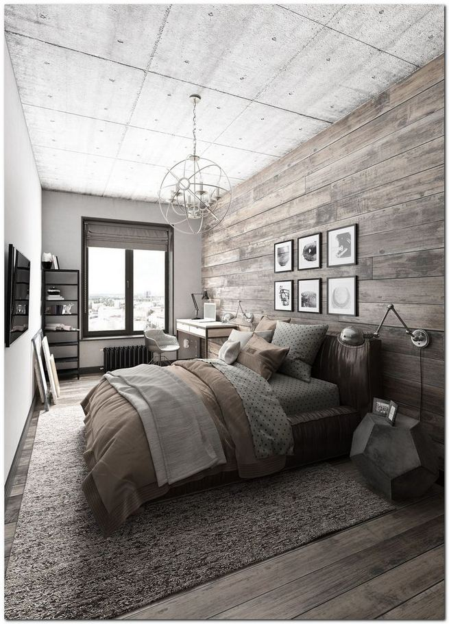 12 Stylish Industrial Style Bedroom Design Ideas 11