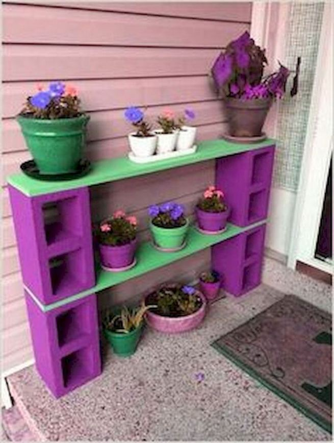 13 Creative Ways To Decorate Your Garden Home Using Cinder Blocks 35