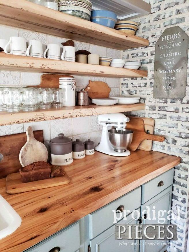 14 Stunning Vintage Wooden Kitchen Island Decor Ideas 12
