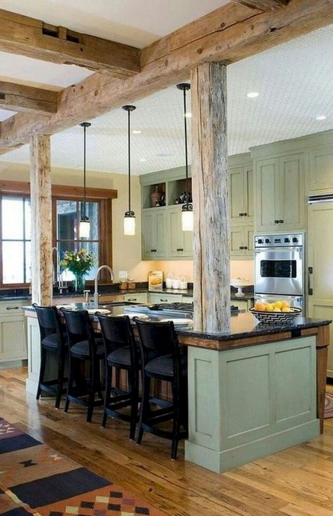 14 Stunning Vintage Wooden Kitchen Island Decor Ideas 13