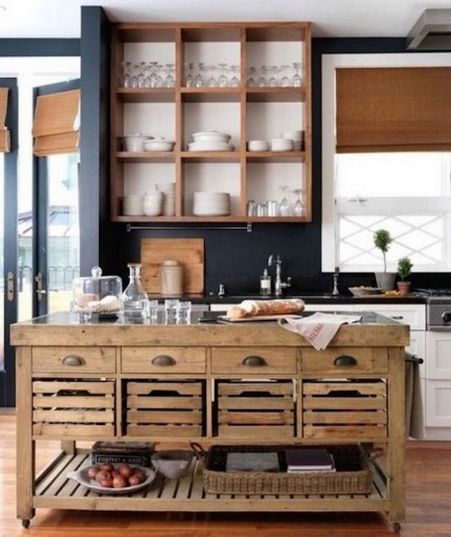 14 Stunning Vintage Wooden Kitchen Island Decor Ideas 16