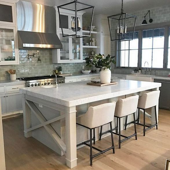 14 Stunning Vintage Wooden Kitchen Island Decor Ideas 25
