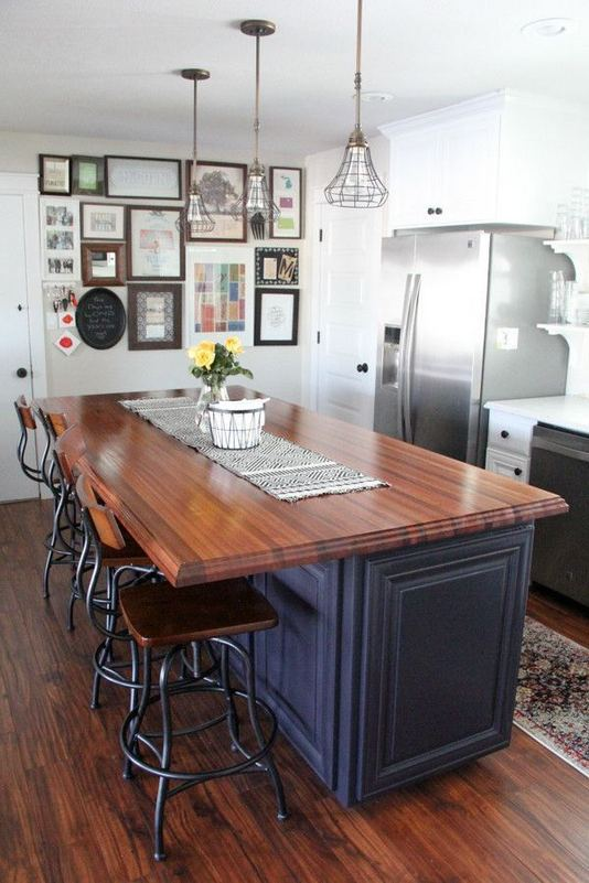 14 Stunning Vintage Wooden Kitchen Island Decor Ideas 28