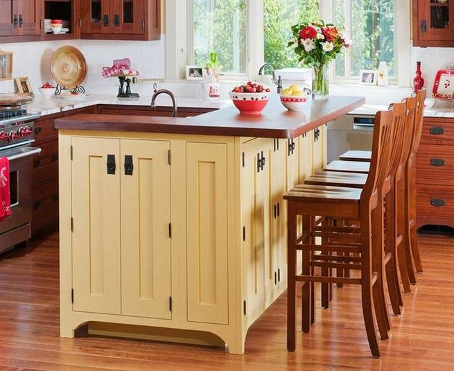 14 Stunning Vintage Wooden Kitchen Island Decor Ideas 40