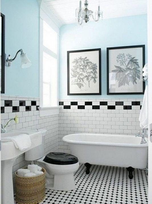 15 Awesome Black Floor Tiles Design Ideas For Modern Bathroom 03