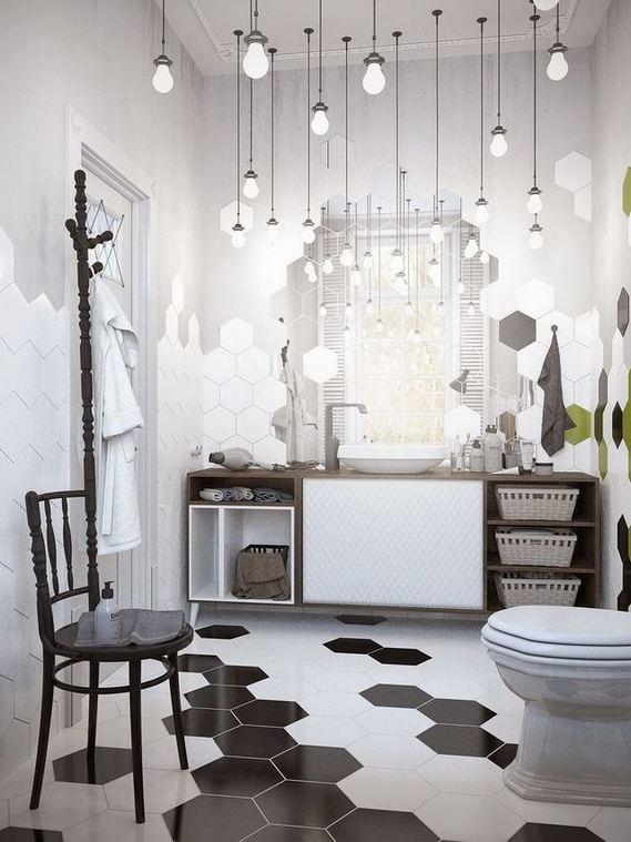 15 Awesome Black Floor Tiles Design Ideas For Modern Bathroom 13