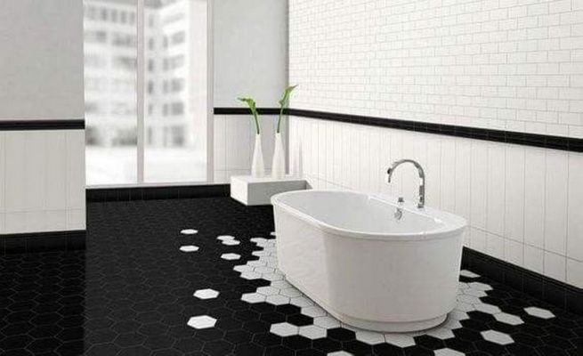 15 Awesome Black Floor Tiles Design Ideas For Modern Bathroom 19