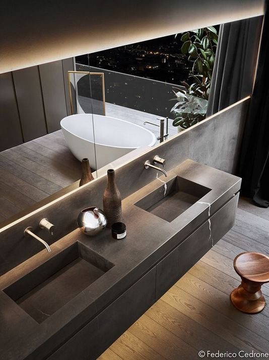 15 Inspiring Marble Bathroom Sink Designs For Your Luxury Home 02