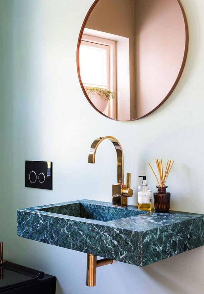15 Inspiring Marble Bathroom Sink Designs For Your Luxury Home 30
